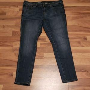 Mossimo Low Rise Skinny Blue Denim Jean's 14 / 32R